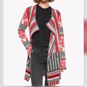 Desigual open front cardigan sweater coat size S